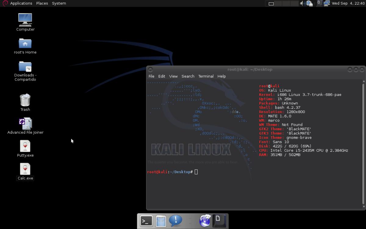 Kali Linux + MATE